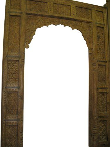 Antique Teak Carved Door Frame Arch Carved Jharokha Doorway 104x73 Mogul Interior Http Www Amazon Com Dp