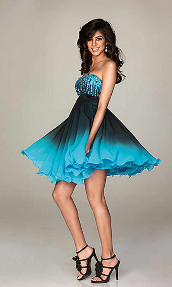 cool dresses | Cool Blue Variant of Allure Homecoming Dress Smoky ...