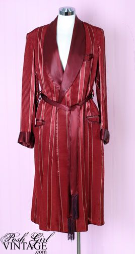1da0bed1b 1940's Men's Smoking Jacket Robe This is a classic and handsome ...