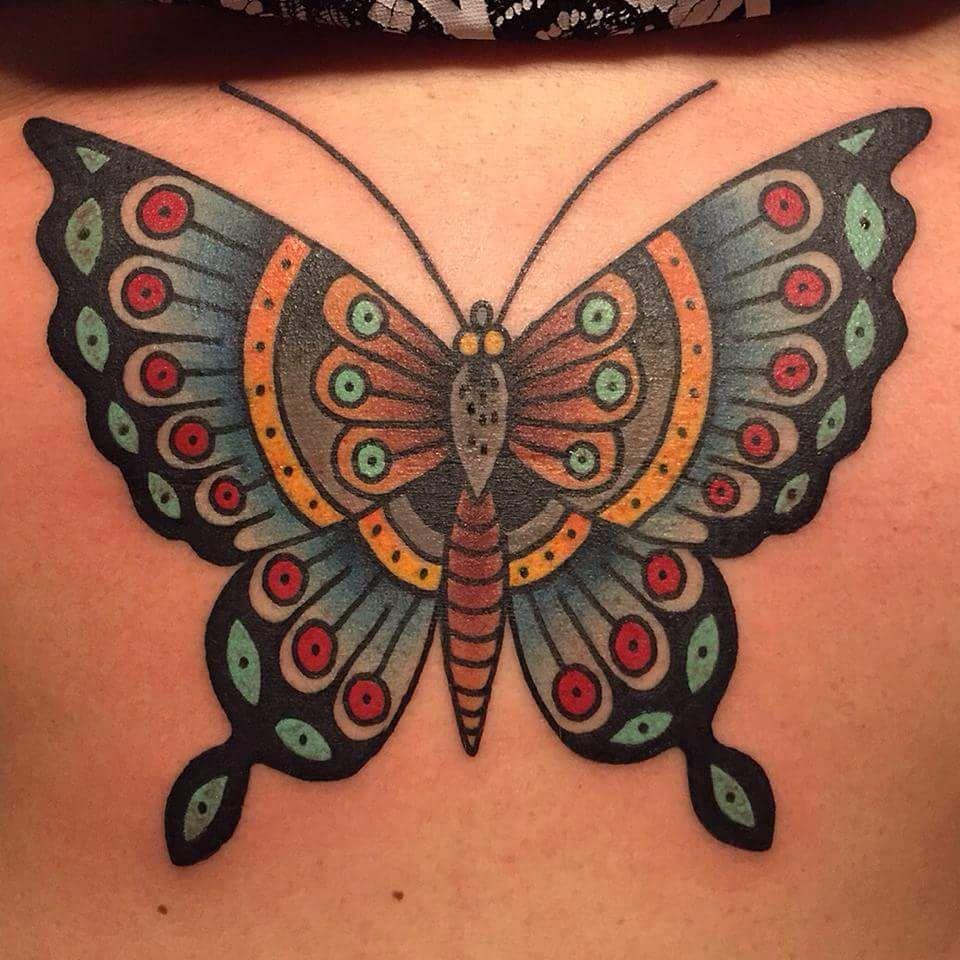 Hans Schroder Traditional Tattoo Design Traditional Butterfly Tattoo Butterfly Tattoo