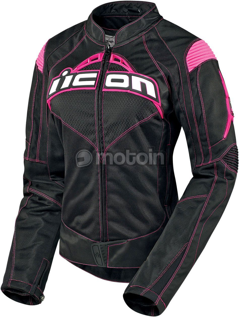 icon contra textiljacke damen motorrad jacke m dchen. Black Bedroom Furniture Sets. Home Design Ideas