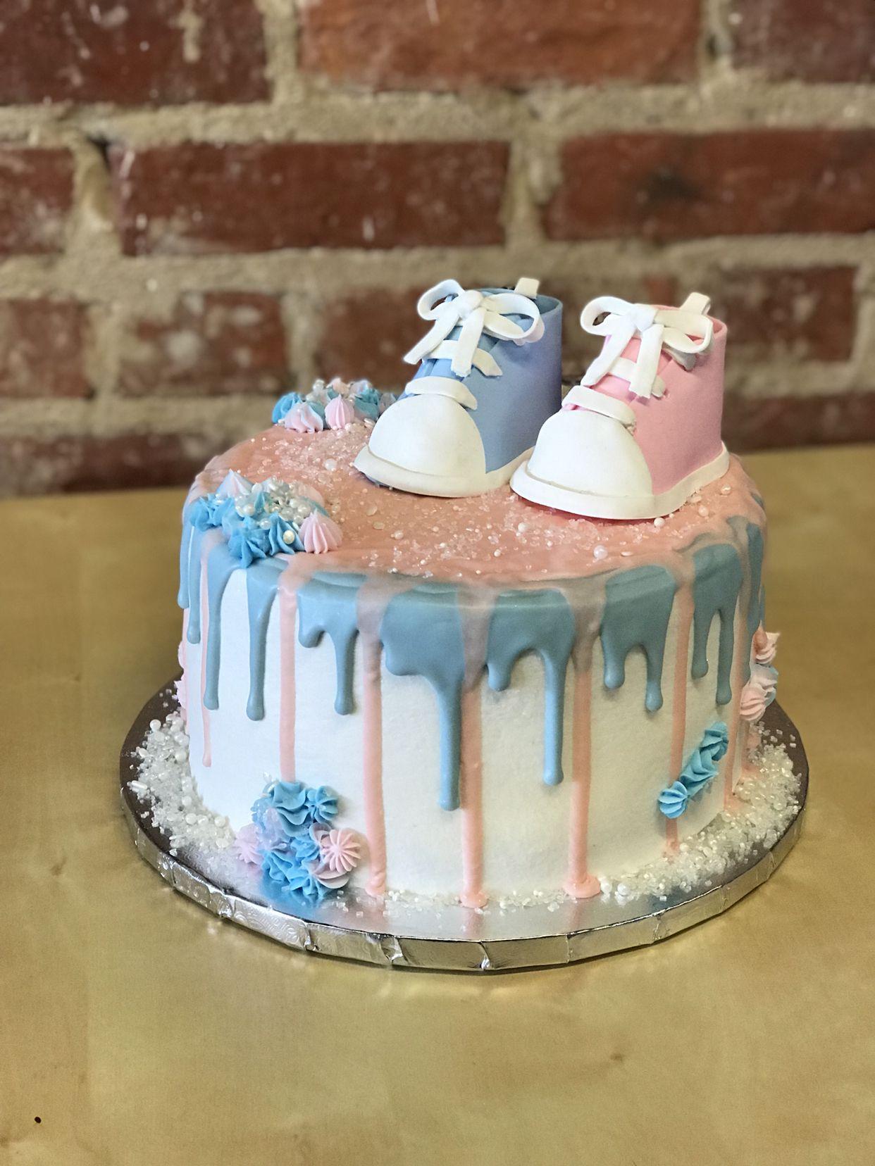 Gender Reveal Gender Reveal Cake Cake Blue Drip Cake