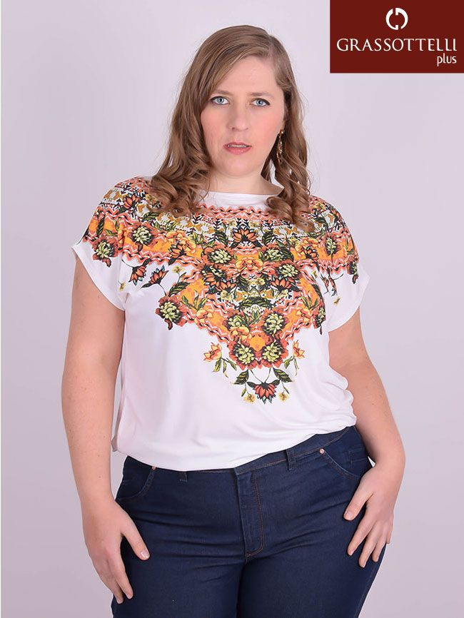 a7d7f2a3be Blusa Manga Japonesa Viscolycra Off White Plus Size - Realist Plus