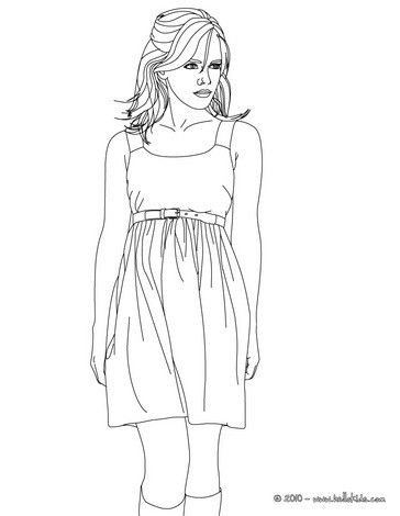 Emma Watson Standing Up Coloring Page More Emma Watson Content On