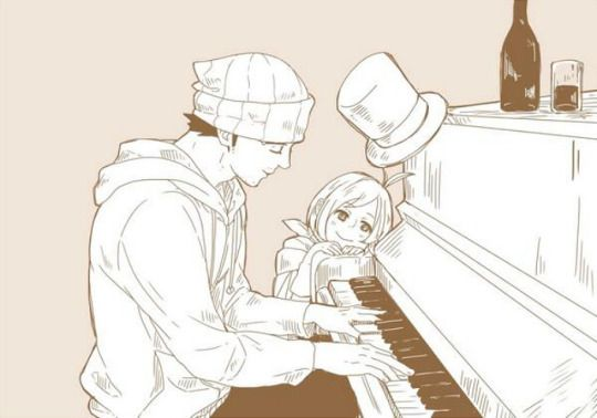 I'm sure he learned at least one song for Trucy.
