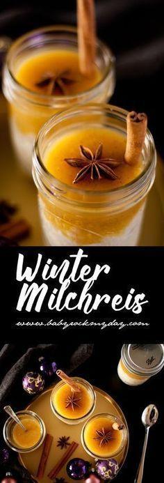 Photo of Winter milk rice with orange vanilla sauce
