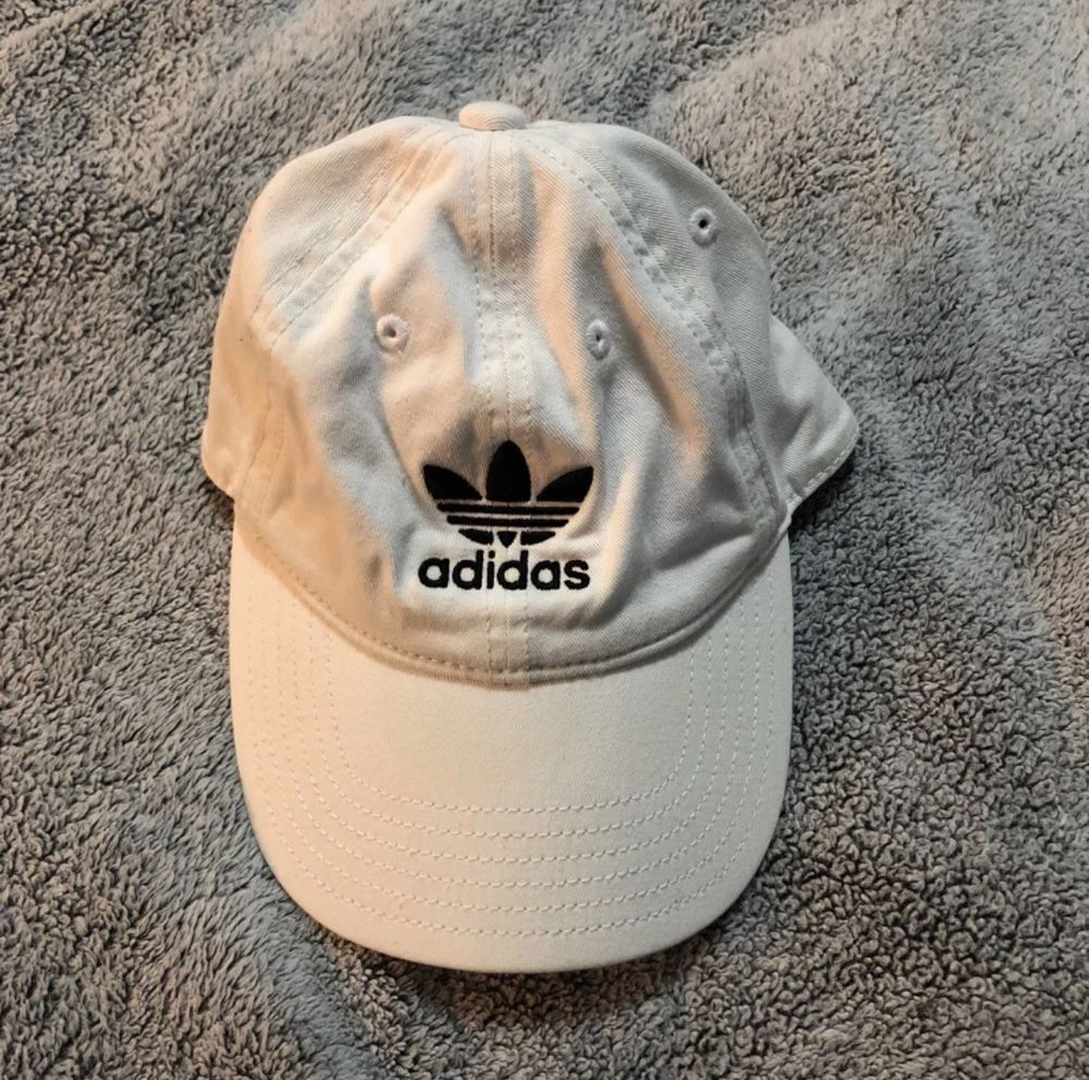 3acb584da7e ADIDAS Originals Adjustable Dad Hat Baseball Cap White  fashion  clothing   shoes  accessories