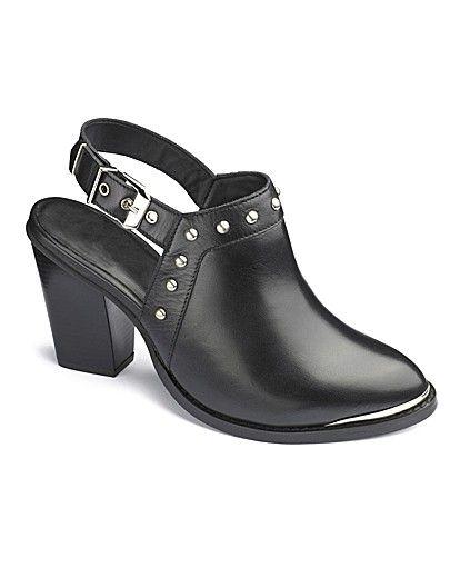 d28343bd40b67 Catwalk Cut Out Backless Boots E Fit | Wide Fit Shoes | Shoe boots ...