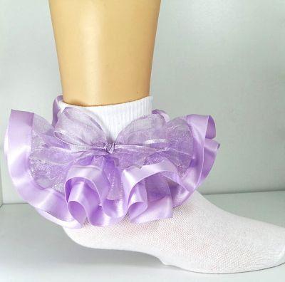 Frilly Pink Plaid Socks Infant Newborn Light Pink Socks Gingham Bow Socks Baby Girls Gingham Plaid Ruffle Bow Socks New Babies Gift Sock