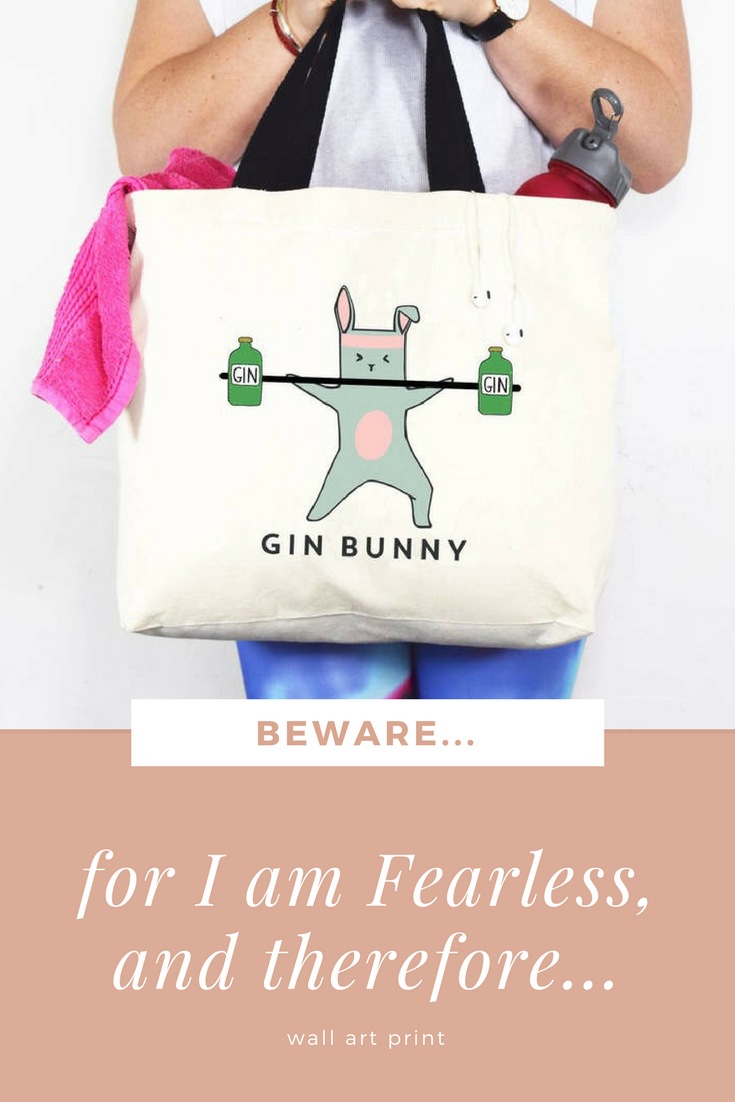 This hilarious ugin bunnyu gym bag is perfect for holding all of
