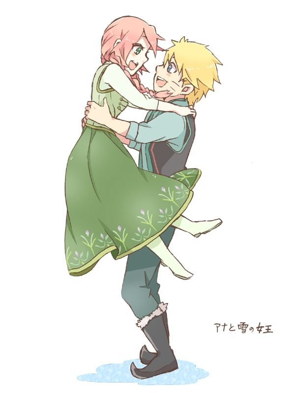 Naruto x Disney's Frozen, by 菜華
