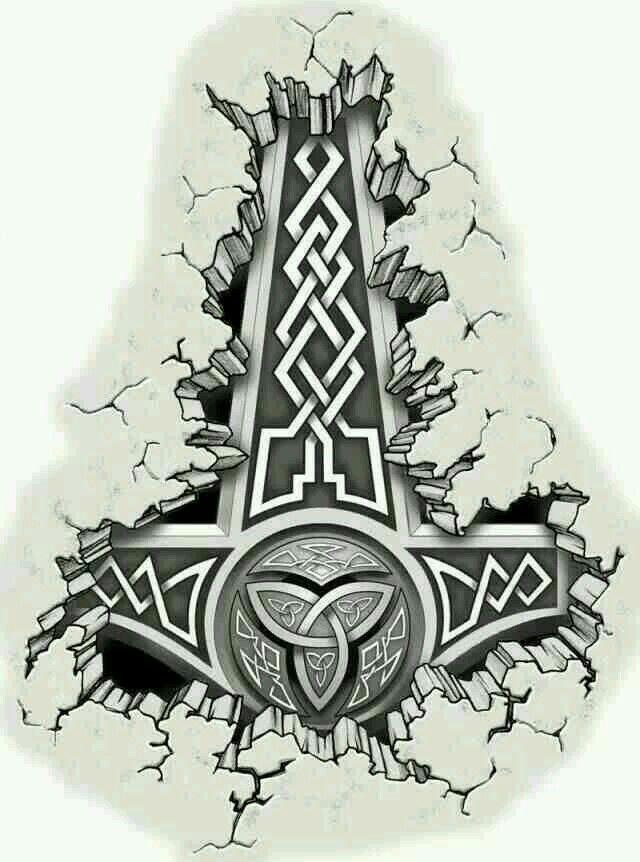 Mjölnir | Thor hammer tattoo, Mjolnir tattoo, Hammer tattoo