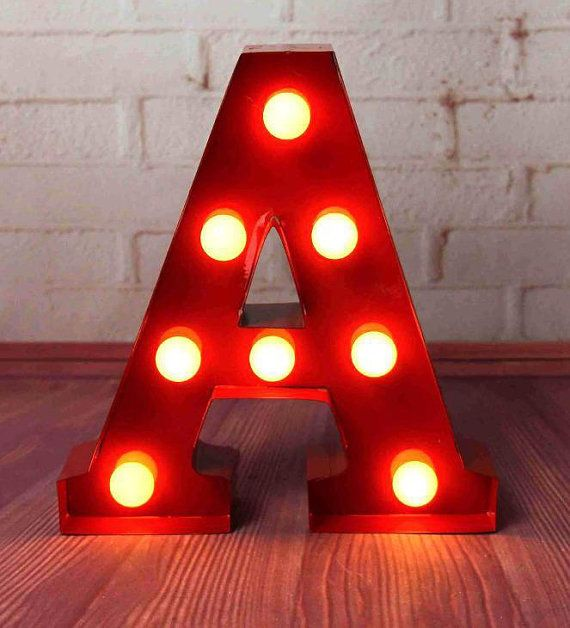 Carnival Light Up Letter Lights A To Z All The Alphabet