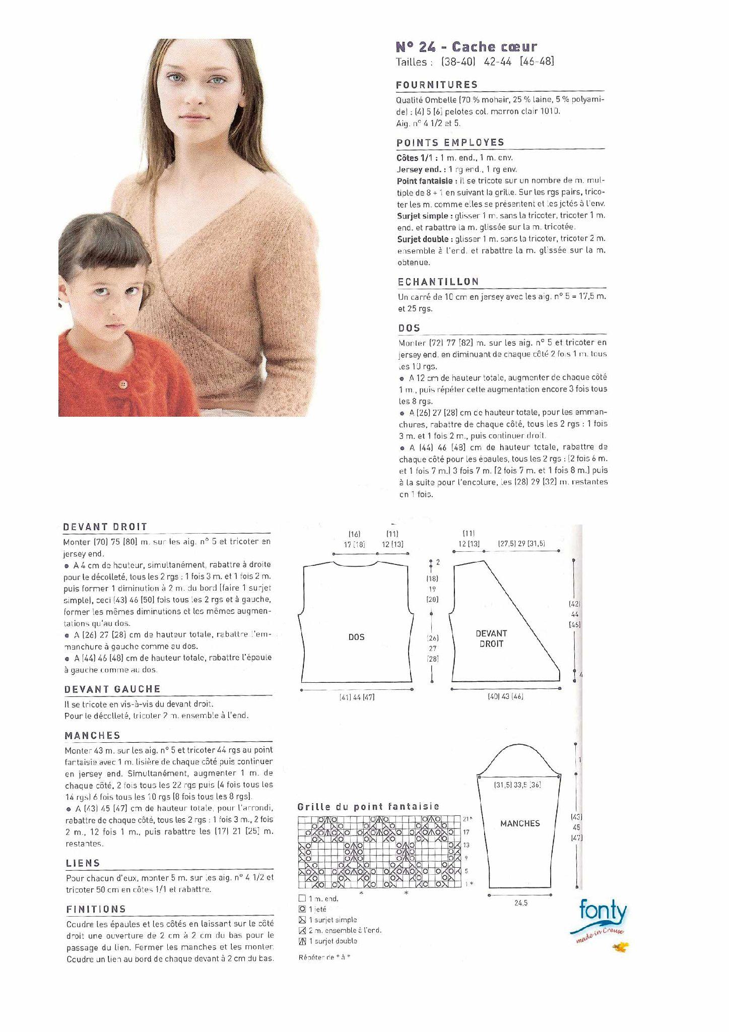 Modele tricot gratuit cache coeur mohair | TRICOTS ADULTES ...