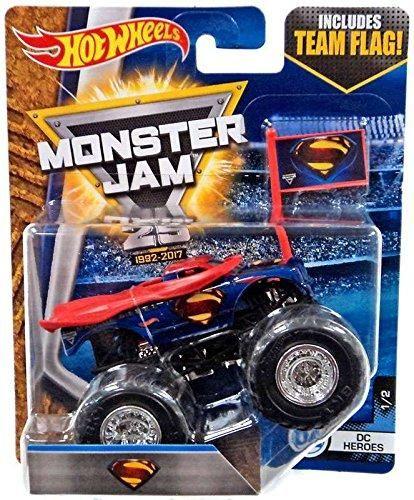 Hot Wheels Monster Jam Truck 1 64 Flag Series Superman Hot