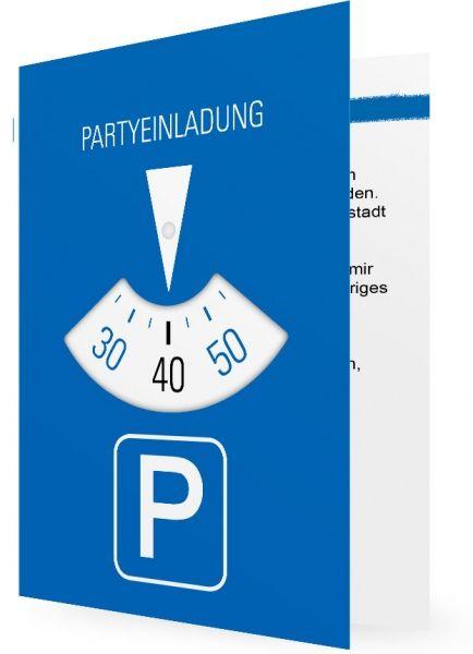 40 Geburtstag Einladungskarte Parkuhr Einladung 40 Geburtstag