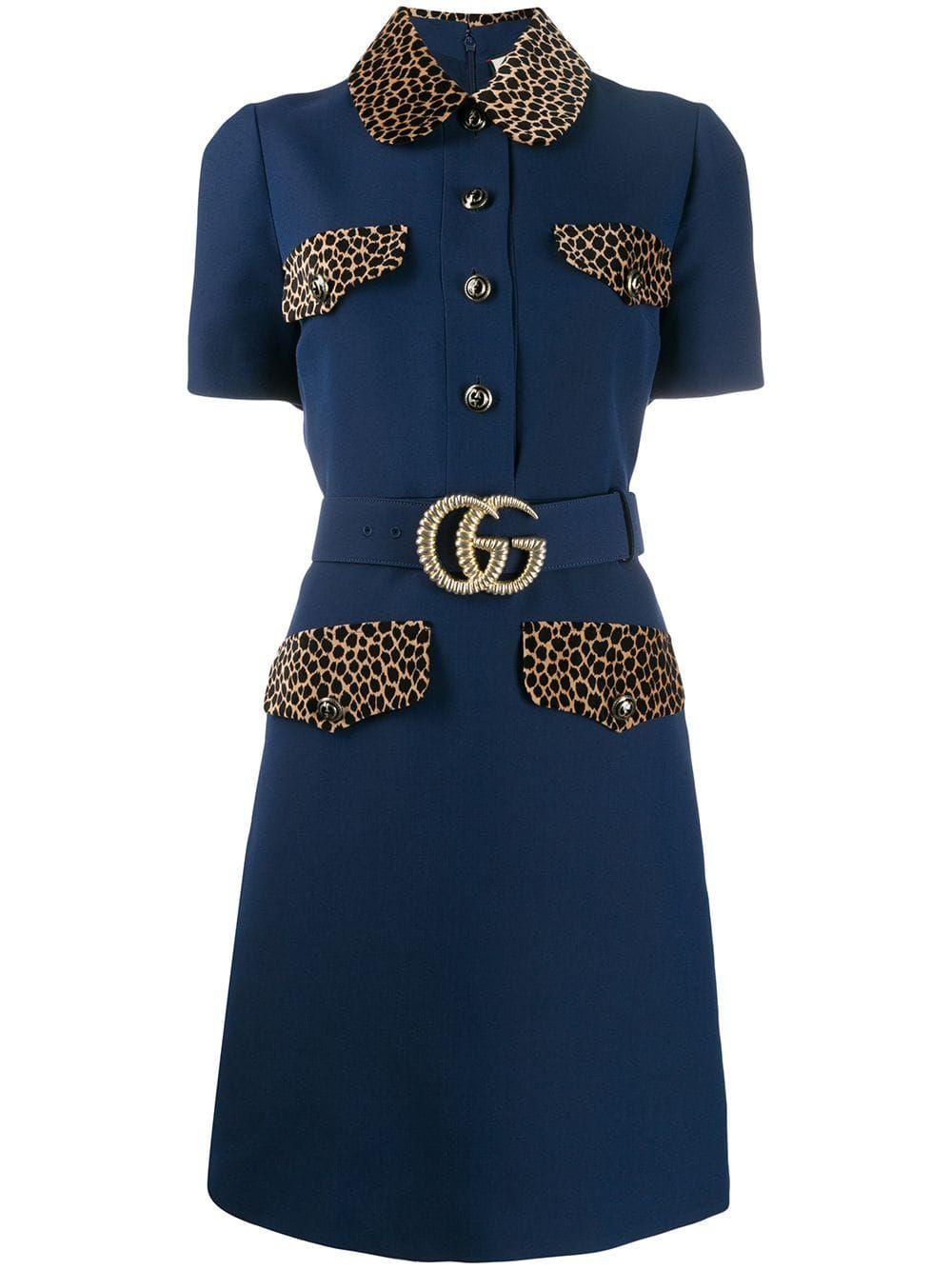 Photo of Gucci GG belt short dress – Blue