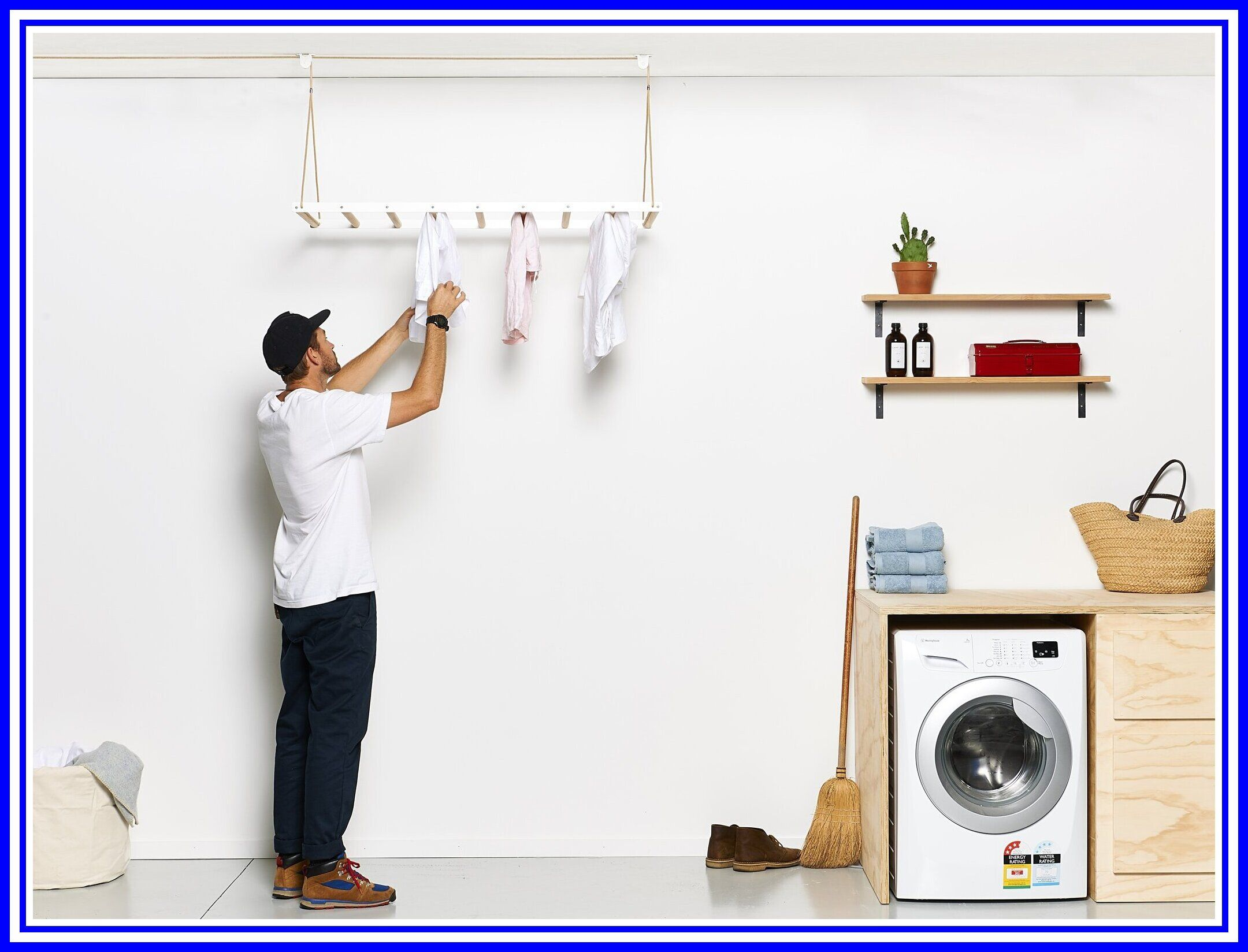 47 Reference Of Laundry Room Ceiling Drying Rack In 2020 Hanging