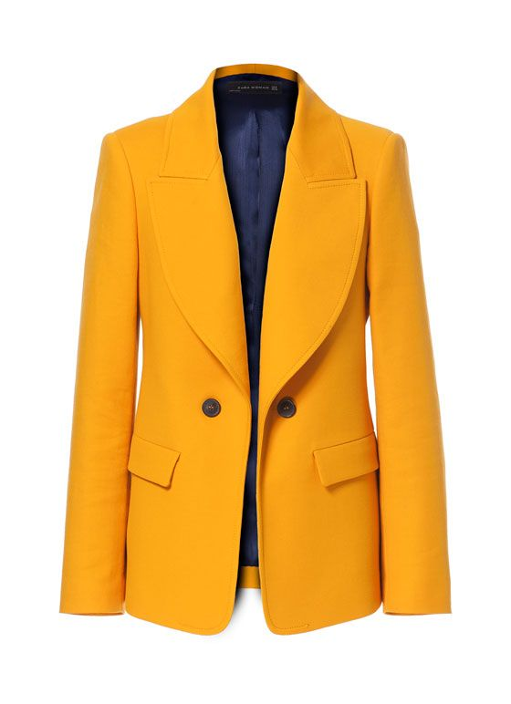 zara giacca arancione