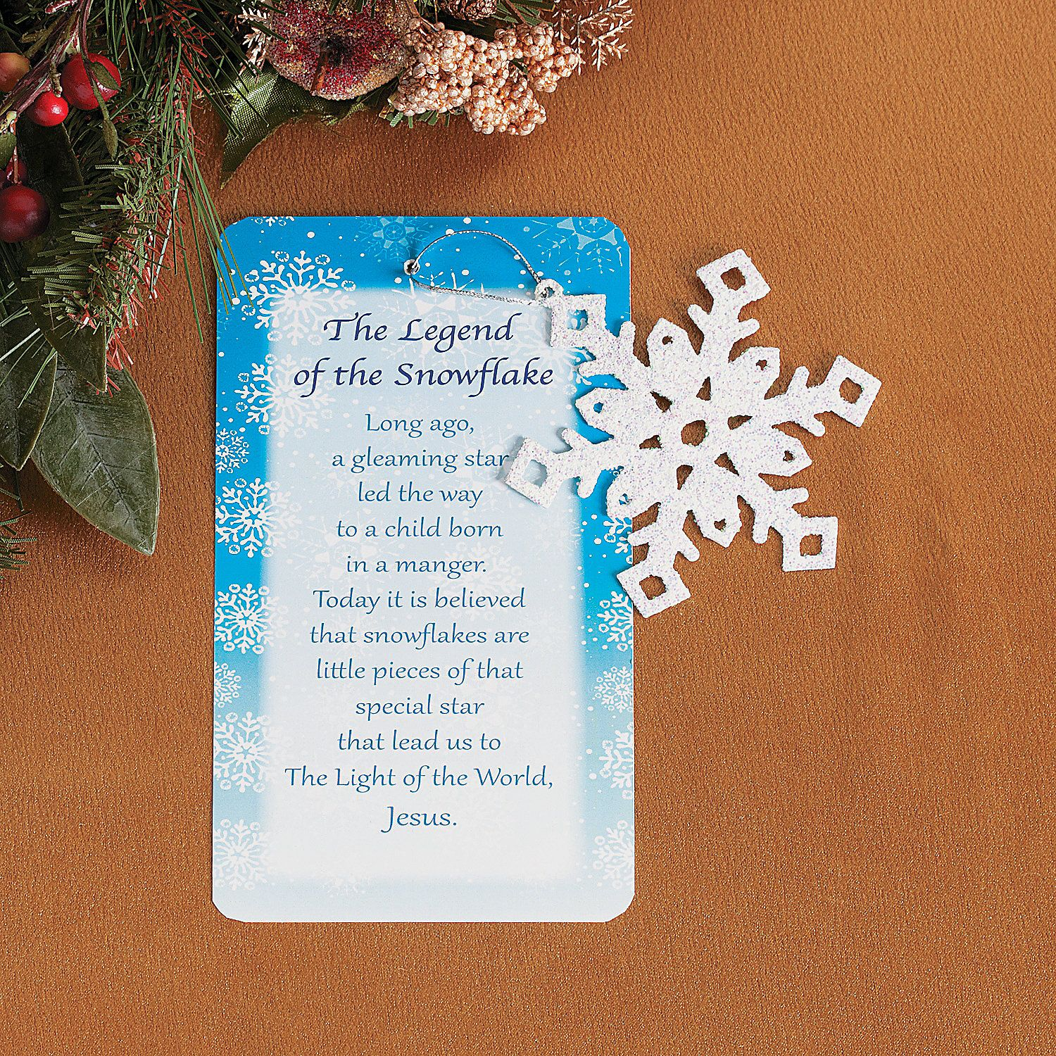 Legend Of The Christmas Tree Poem: Legend Of The Snowflake Christmas Ornaments