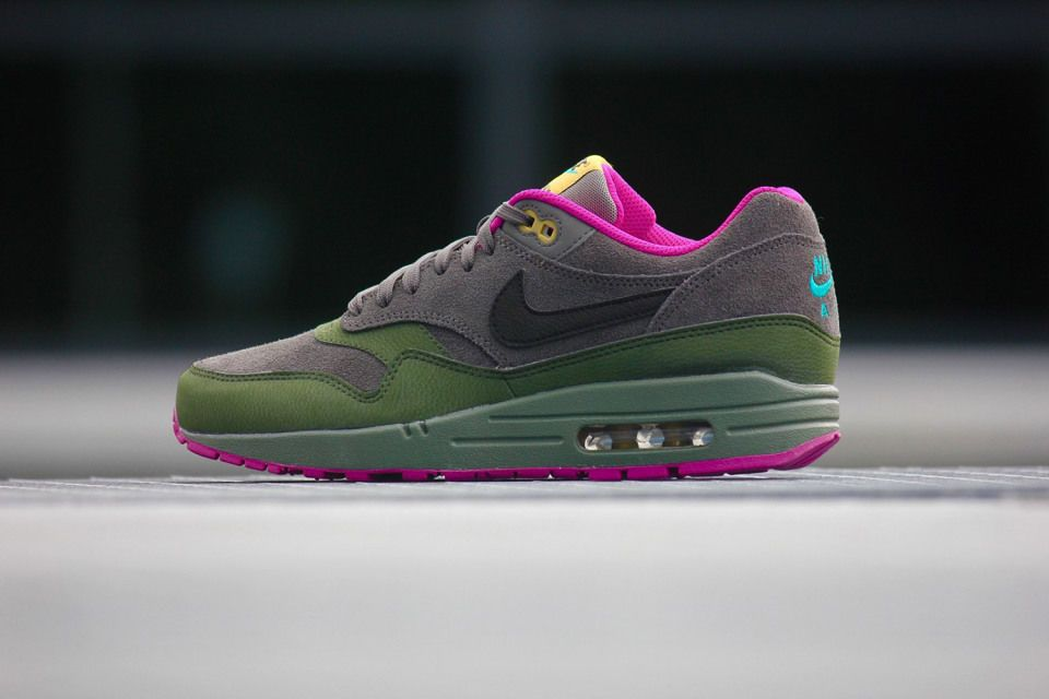 nike air max 1 leather dark pewter &