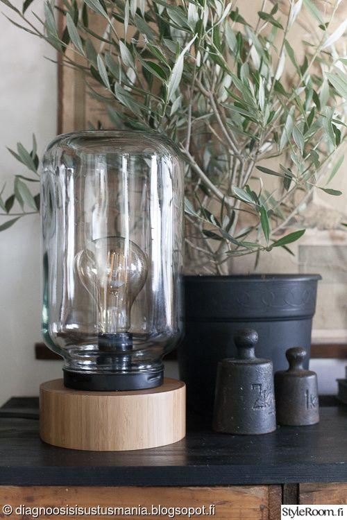 diy,diy-valaisin,industrial,lasipurkkilamppu,pöytävalo