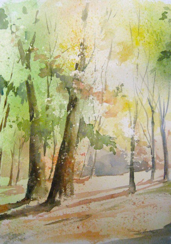 Original Watercolor Painted In My Studio Features
