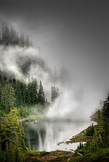 Socked In Lake At Mt Baker Nature Beautiful Nature Landscape
