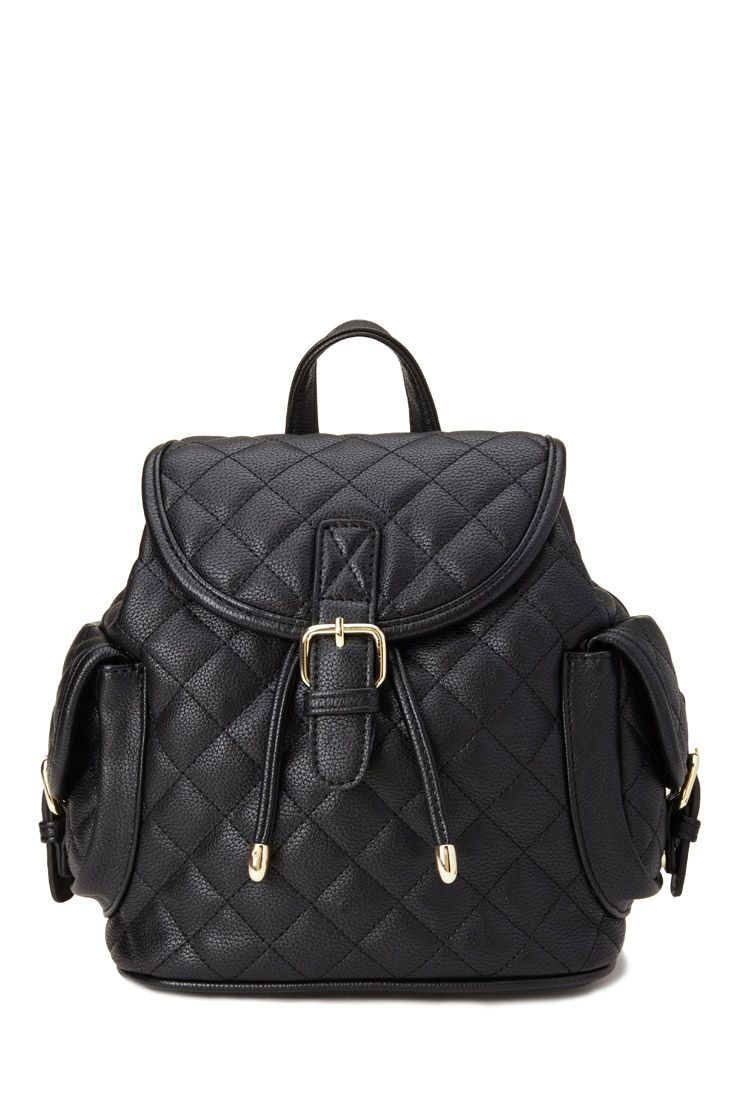 Quilted Faux Leather Backpack #Accessories | Bags | Pinterest ... : quilted faux leather backpack - Adamdwight.com