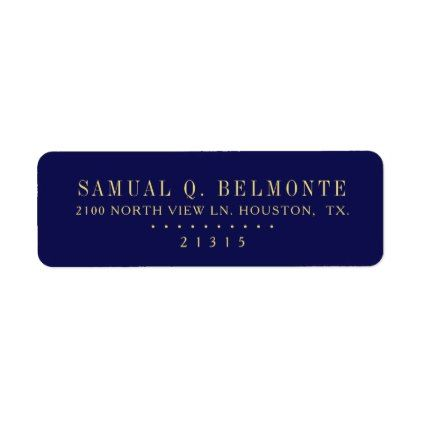 Deep blue indigo Personalized Return Address Label - faux gifts - sample address label