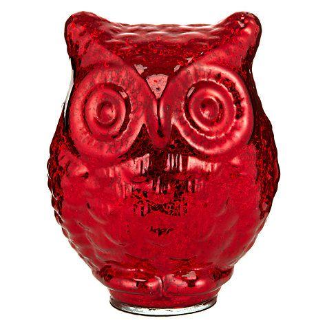 Buy John Lewis Glass Mercurised Owl Online at johnlewis.com