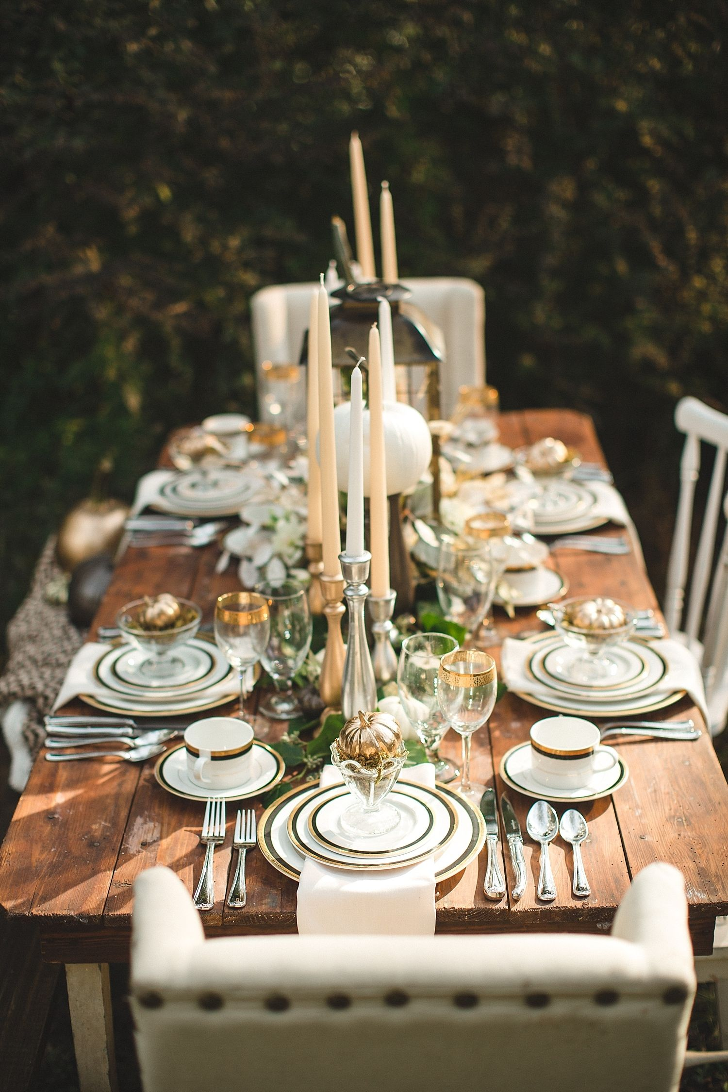 Halloween Tablescape Inspiration From Jophoto Thanksgiving Table