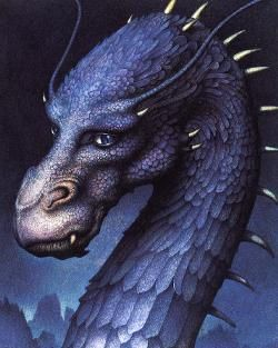 """I love Saphira! <3 Saphira Bjartskular (meaning """"Brightscales"""" in the Ancient Language) is a female blue dragon who hatches from an egg stolen from Galbatorix by Brom and Jeod. She is mentioned in the novels to be the last female dragon in all of Alagaësia."""