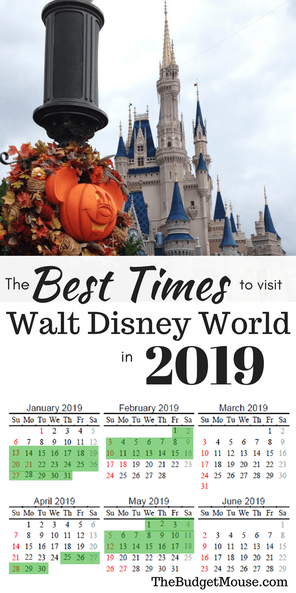 The Best Time to Go To Disney World in 2019 & 2020 + FREE Printable Calendar! is part of Disney travel agents - The best time to go to Disney World in 2018 & 2019! My most recommended times of year and a free printable calendar to plan your Disney World trip