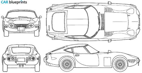 Car blueprints 1967 toyota 2000 gt coupe blueprint i love toyota car blueprints 1967 toyota 2000 gt coupe blueprint malvernweather Gallery