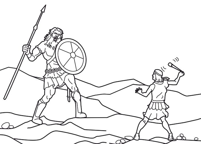 David And Goliath Coloring Pages With Images David And Goliath