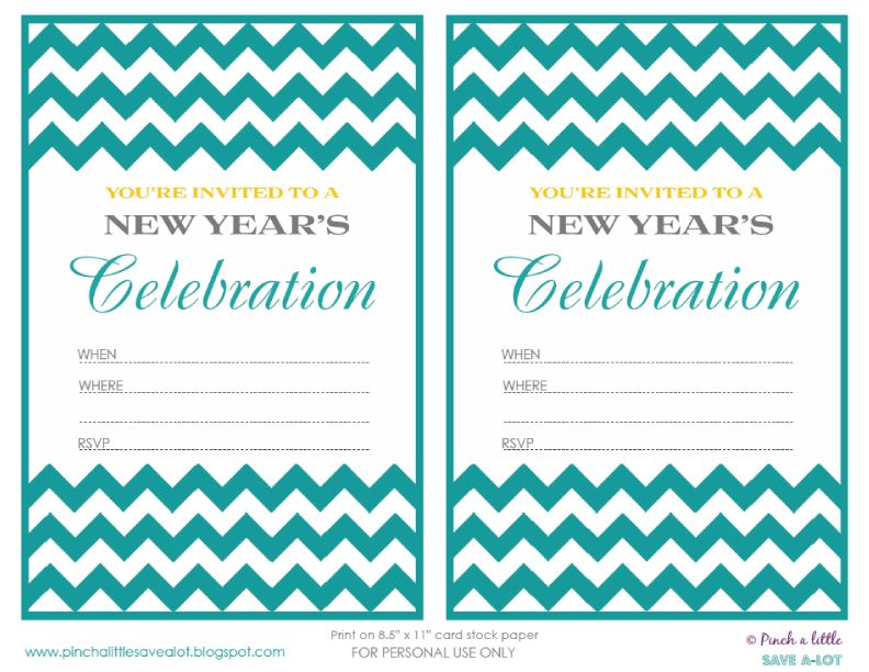 Pinch A Little SaveALot Free New Years Eve Party Invitations – Free New Years Eve Party Invitations