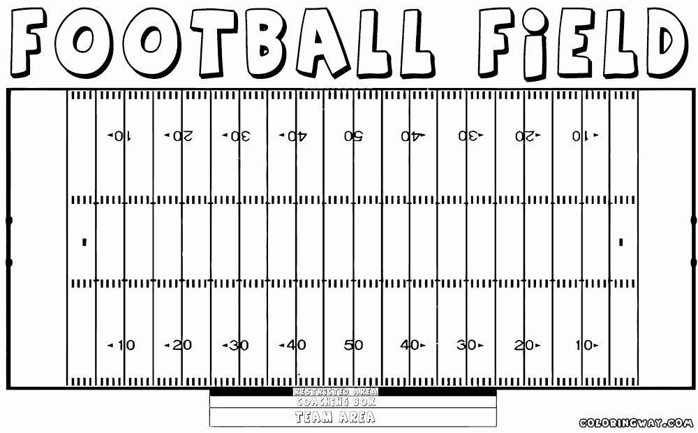 Football Field Coloring Page Unique Football Field Coloring Pages Football Field Sports Coloring Pages Coloring Pages