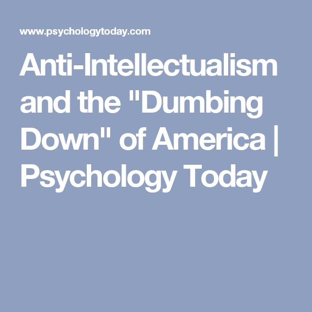 anti intellectualism topics
