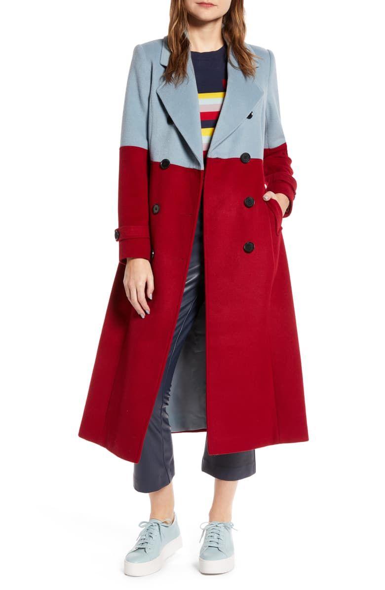 Halogen X Atlantic Pacific Colorblock Wool Blend Coat Nordstrom Exclusive Nordstrom Coat Women S Coats Jackets Clothing Essentials [ 1196 x 780 Pixel ]