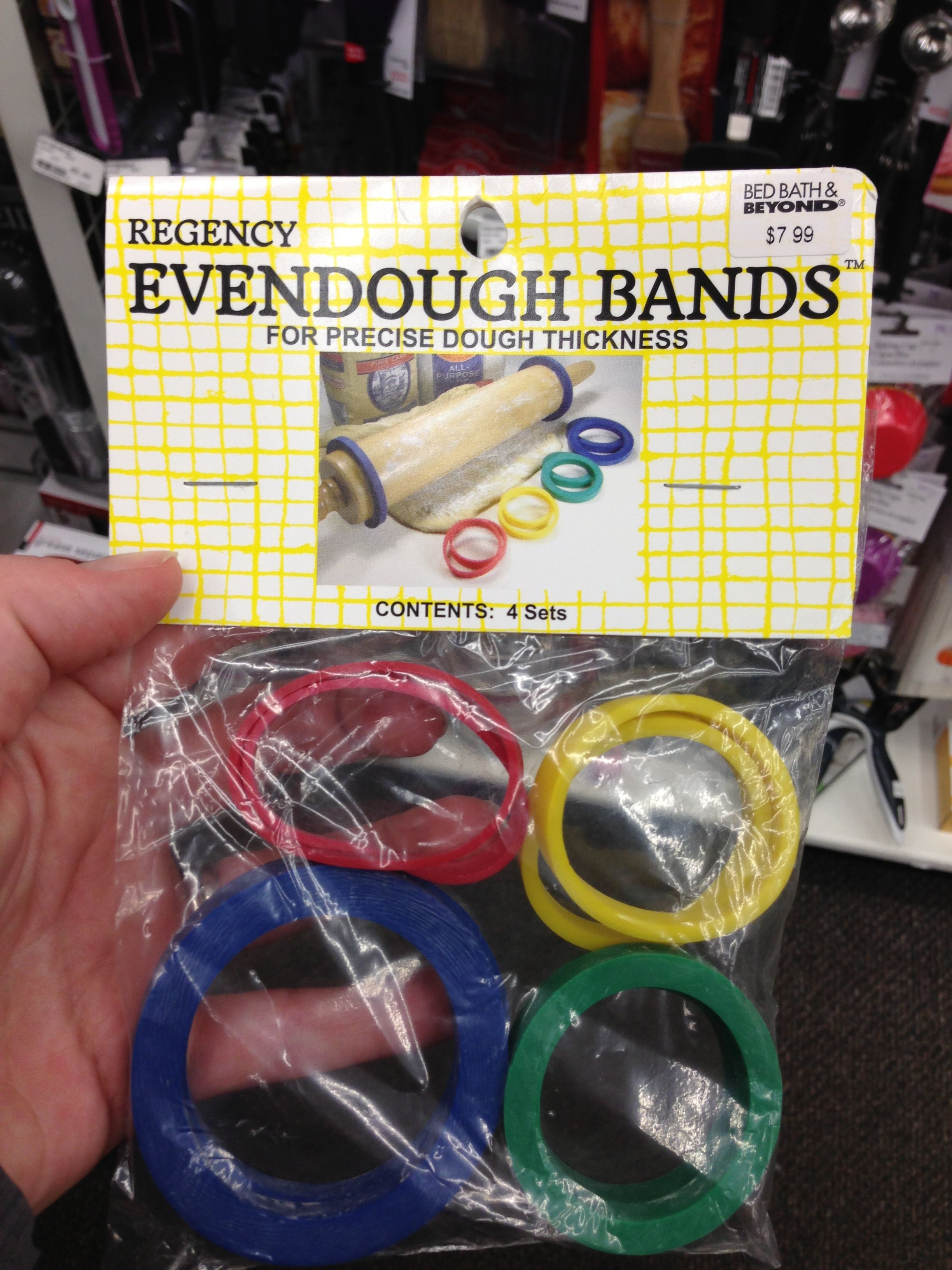 Place these bands around a rolling pin to create even clay