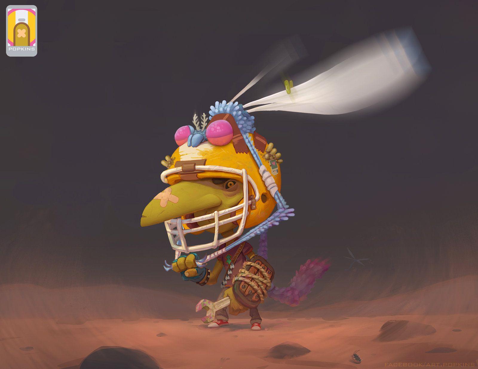 Fly Goblin, Artur Mukhametov on ArtStation at https://www.artstation.com/artwork/rJJxe