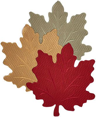 Homewear Harvest Sets Of 4 Quilted Leaf Placemats Macy S Quilting Fabric Projects Placemats Leaf Stencil