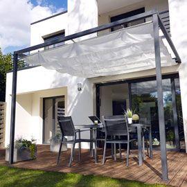 Tonnelle Adossee Blooma Clipperton 2 95 X 2 95 M Blanche Garten