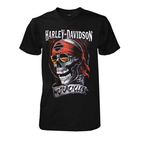 0af8d840 Harley-Davidson - Harley-Davidson Men's Distressed Shady Skull Short Sleeve  T-Shirt