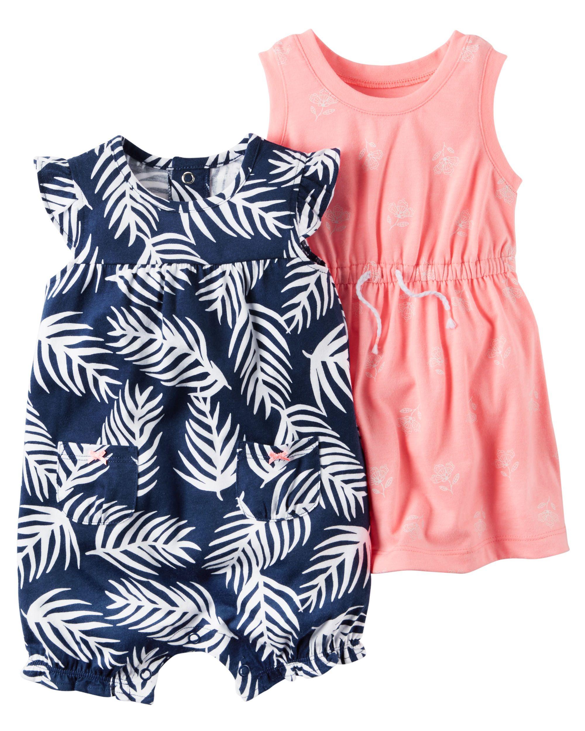 Shop 2 Pack Romper Neon Dress Set At Cartersoshkosh Ca Visit