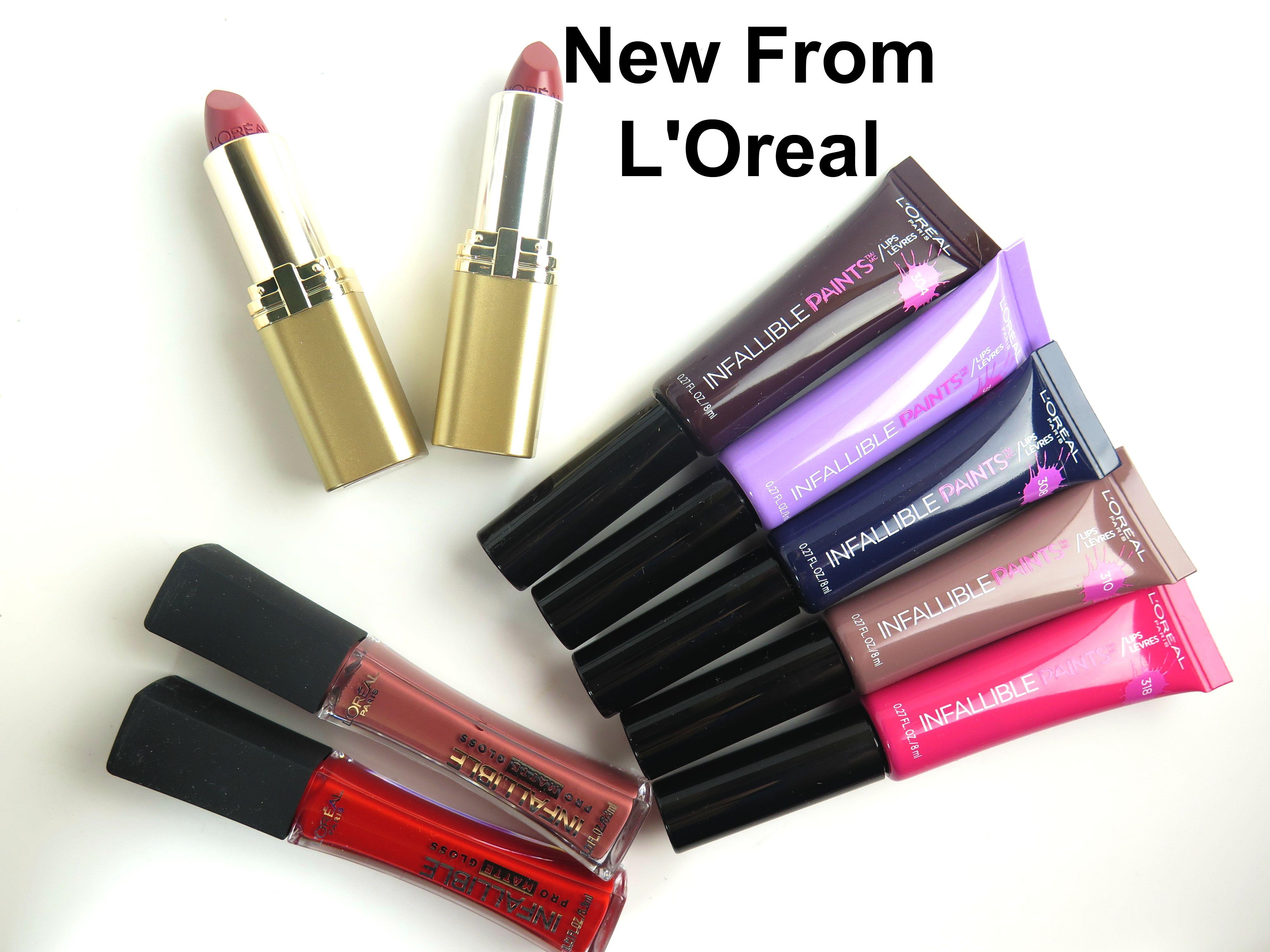 L'Oréal Paris Newest Lipsticks and Gloss Collections
