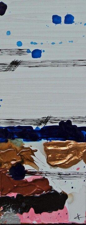 Crépuscule, 50x20cm, acrylique sur toile