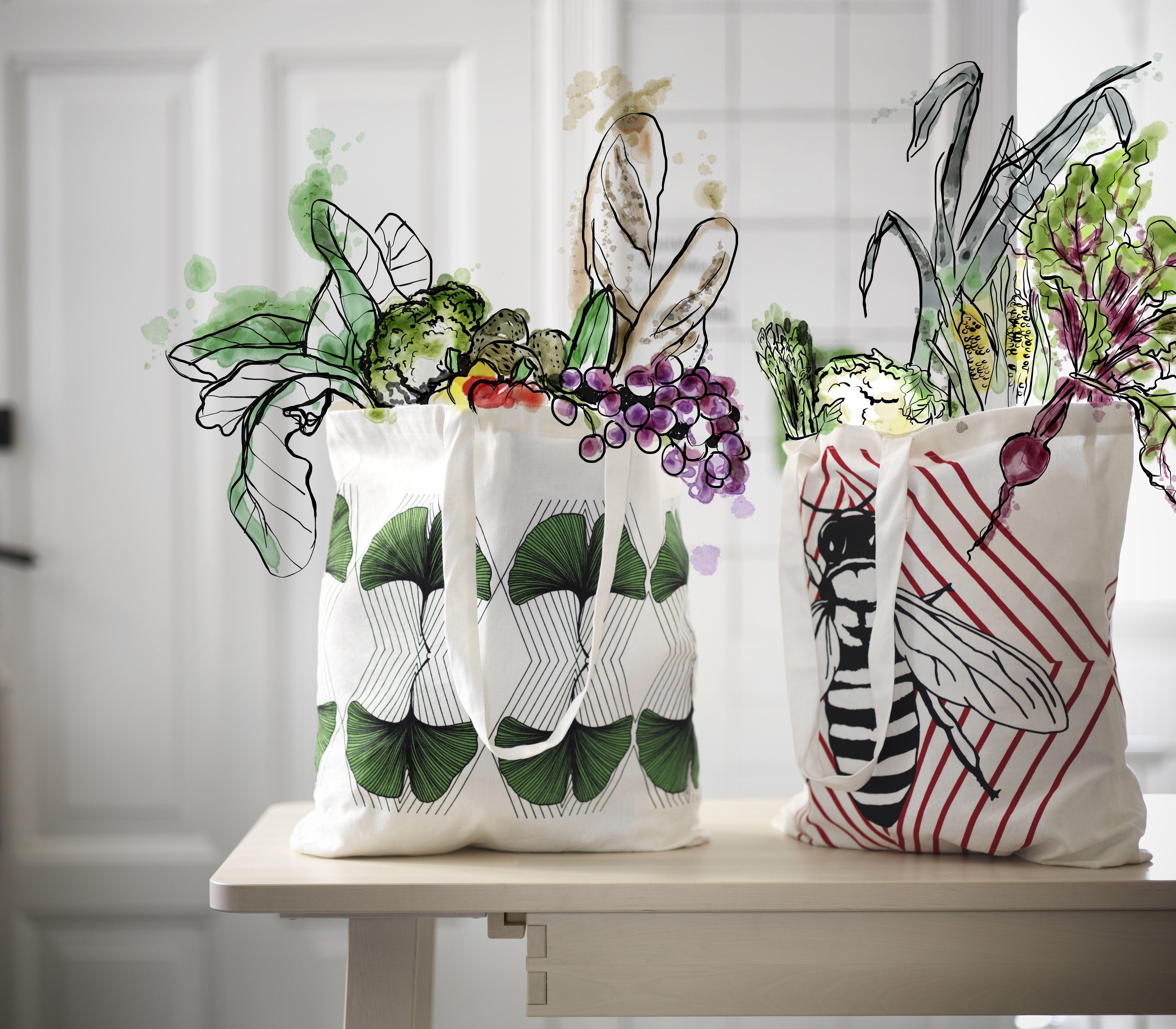 ANVÄNDBAR tas | #nieuw #collectie #IKEA #IKEAnl #milieu #groen #draagtas #bewust #levensstijl