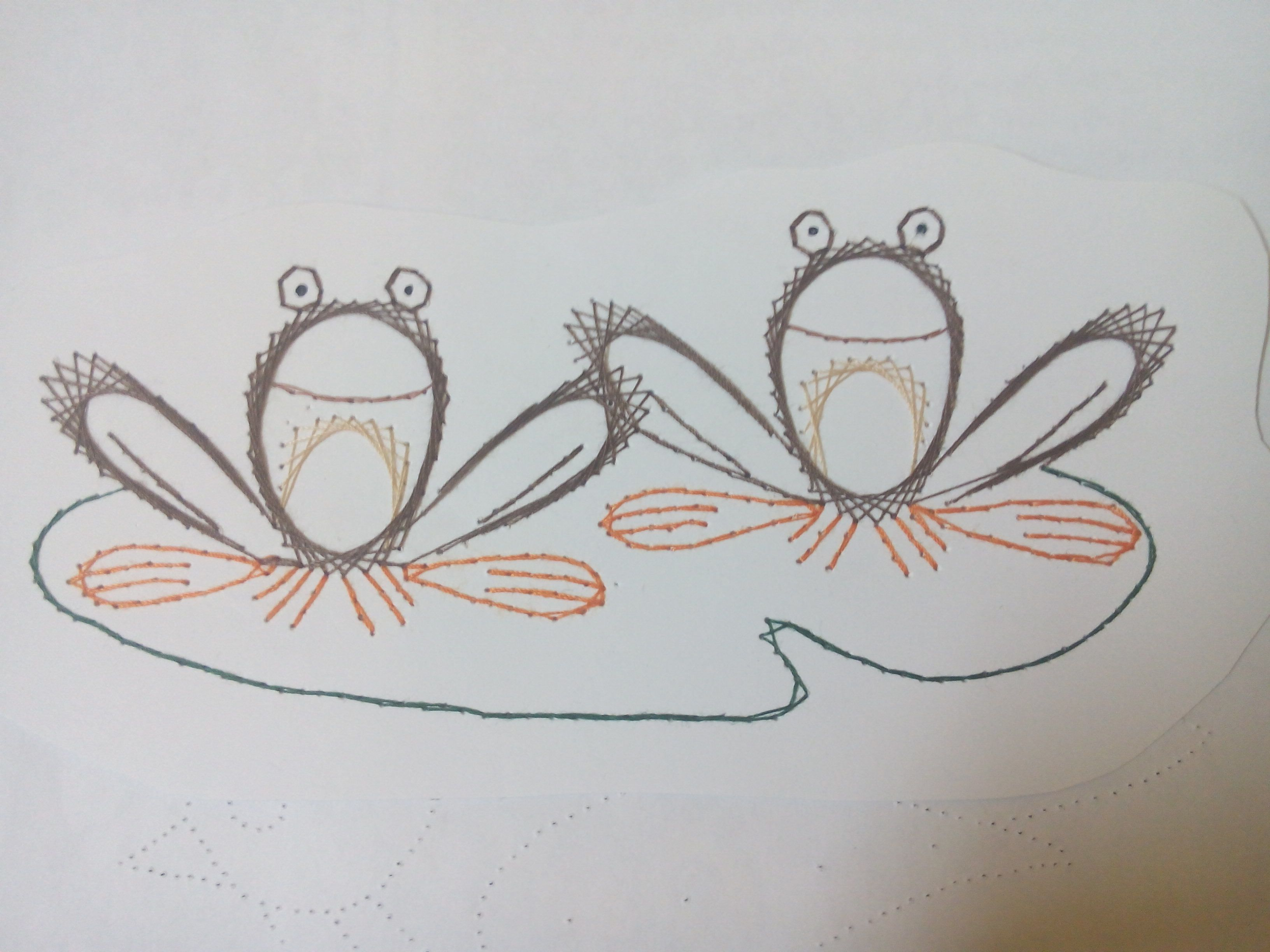 Math Embroidery Frogs